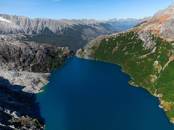 DE CIMA: Vista aérea do Parque Pumalín, no Chile (Foto: Tompkins Conservation)