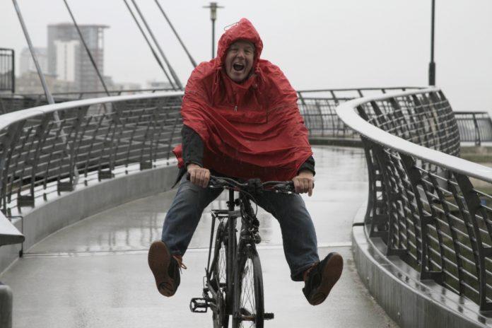 pedalar na chuva