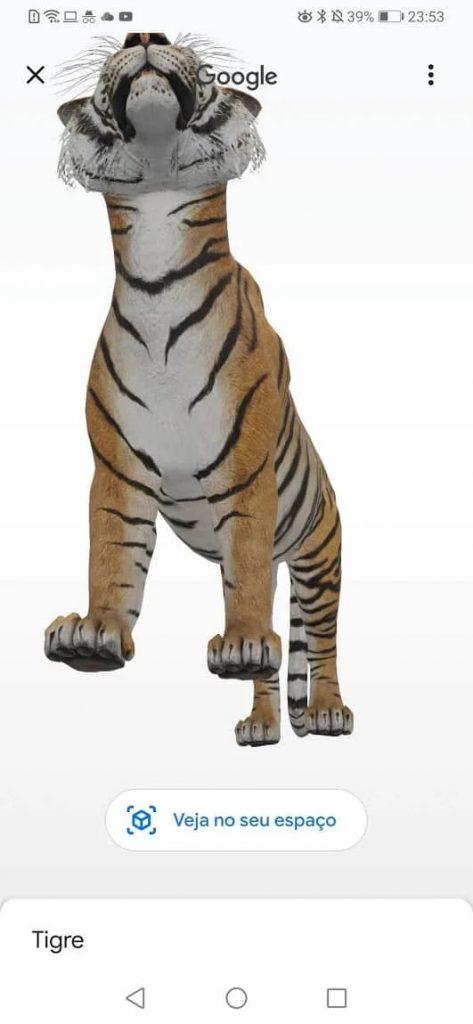 Google animais em realidade aumentada