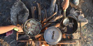 cozinha de acampamento