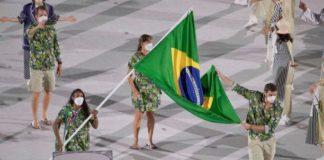 Brasil participou da cerimônia de abertura das Olimpíadas em Tóquio com quatro representantes