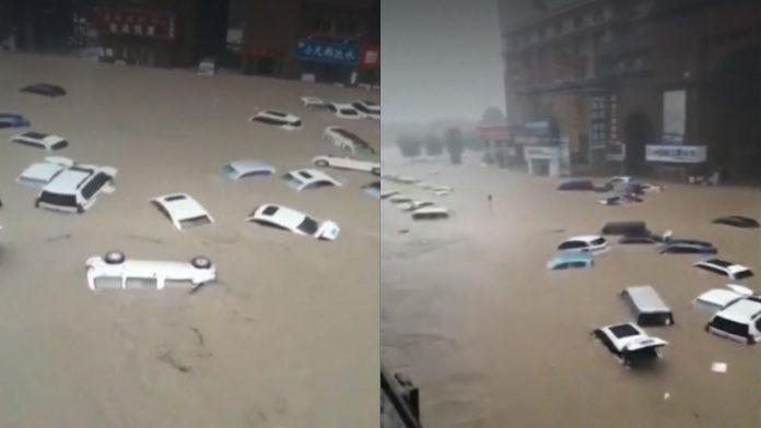 Pior chuva em mil anos: pelo menos 25 morrem na China