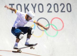 Pedro Barros é prata no skate park na Olimpíada de Tóquio