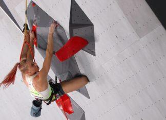Janja Garnbret brilhou na estreia da escalada esportiva feminina em Tóquio