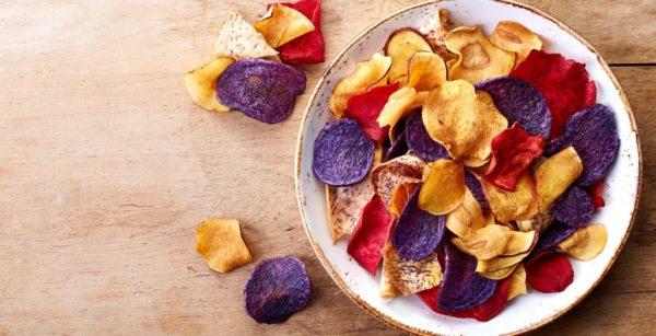 como fazer chips de legumes