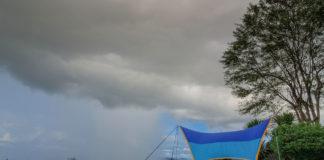 Acampar na chuva