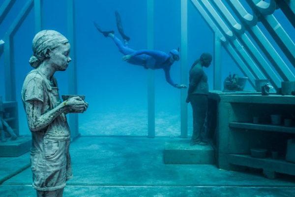 Museus subaquáticos ecoturismo