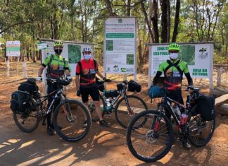 Ciclistas fazem trilha para defender conservação do Cerrado