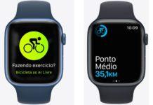 Novo Apple Watch Series 7 tem recursos para bike e atividades outdoor