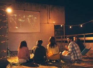 cinema outdoor em casa