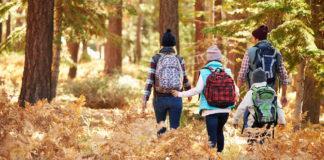 trekking com crianças