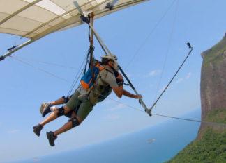 Yoga no céu: voo livre sem medo