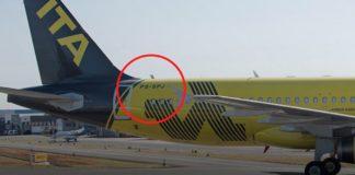 Aviões que homenageiam executivos com letras na fuselagem